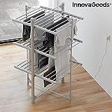 InnovaGoods Tendedero Eléctrico Plegable InDryer (36 Barras) 300W, Plateado, 75 x 145 x 73 cm