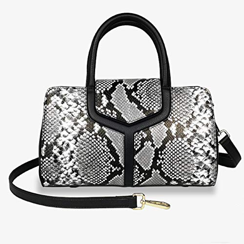 Pinle Ladies Leather Handbag Atmospheric Messenger Handbag Fashionable Large-capacity Shoulder Bag Female New Casual Tide Wild Female Bag Tote Handbag Shoulder Bag (Color : Gray)