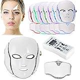 Biutee Fotón Tratamiento Terapia de Luz para el Cuidado Facial de la Máscara 7 colores LED Máscara Rejuvenecimiento de la piel