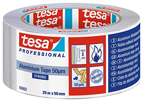 Tesa 84426 Nastro Alluminio 25X50, Grigio