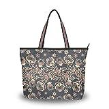 Damen Schultertasche, indisches Blumenmuster, groß, Handtasche, Strandtasche, Mehrfarbig - Multi -...