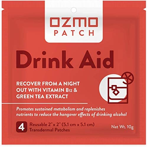 Ozmo Patch Drink Aid Hangover Relief Plant Based Party Recovery Kit Contains Vitamin B12 Taurine product image