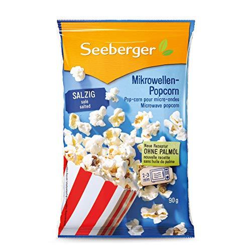 Seeberger Mikrowellen-Popcorn salzig ohne Palmöl 90 g