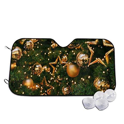 Rterss boom decoraties ballonnen sterren gouden kerst voorruit zon schaduw vizier voorruit glas voorkomen dat de auto van verwarming tot binnen gepersonaliseerd
