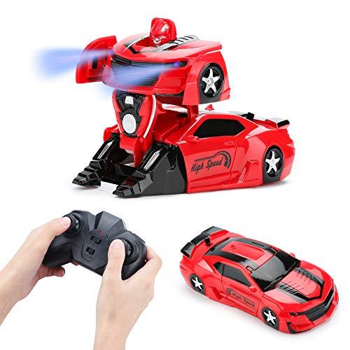 welltop Ferngesteuertes Auto, Kinder Spielzeug Auto Mit Fernbedienung,360 °Drehung Bremsungs wiederaufladbares Hochgeschwindigkeitsfahrzeug Spielzeug mit starker Saugkraft Kinderweihnachtsgeschenk