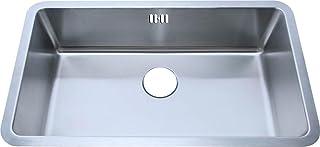 Große Unterbauspülbecken Küchenspüle aus gebürstet Edelstahl 793x461mm A04 bs