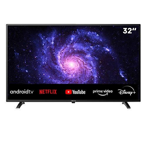 TV METZ 32'' (81 cm) LED HD Android TV 9.0 (Netflix, Prime Video, Disney+, MyCanal, OCS, Apple TV, …) Wi-FI avec Tuners DVB-T2/C/S2 - Série MTC6