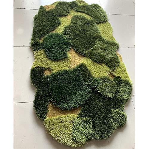 YSJSPKK Alfombra de decoración de alfombra de bosque verde para habitación de niños, balcón, ventana, alfombra de árbol de Navidad (color: amarillo-2, tamaño: 60 x 120 cm)