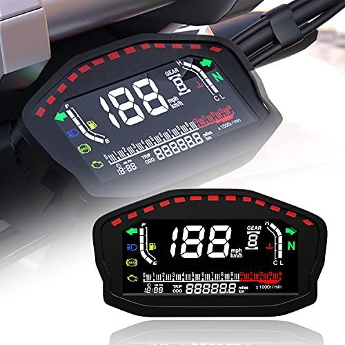 ZMMWDE, para 1-2-4 Cilindros Motocicleta Universal LED LCD Velocímetro Retroiluminación Digital Odómetro