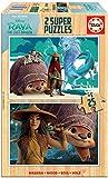 Educa 18878 Disney Raya y el Último Dragón. Set de 2 Puzzles de 25 Piezas. Madera ecológica. A Partir de 3 años. Ref, Multicolor
