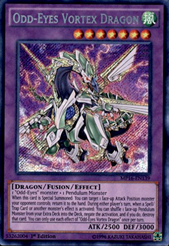 Yu-Gi-Oh!! - Odd-Eyes Vortex Dragon (MP16-EN139) - Mega Pack 2016 - 1st Edition - Secret Rare