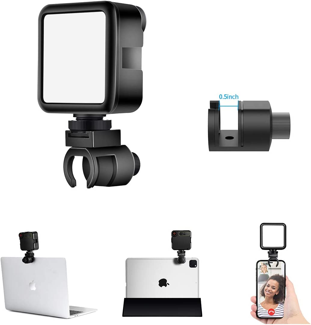 LenTon LED Video Light with Clip Kit for Remote Working,Video Conferencing,Zoom Calls,Live Streaming,Vlog Vlogging,FaceTime,Video Shooting for Desktop,Laptop,MacBook,Camera,iPad,Smartphones