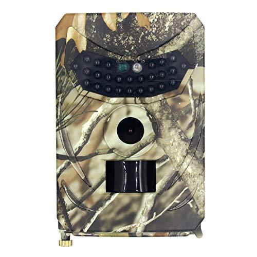 tellaLuna Trail Camera-IP56 CáMara de ExploracióN de Caza Impermeable 12MP 1080P para Monitoreo de Vida Silvestre con DeteccióN de Movimiento de Rango