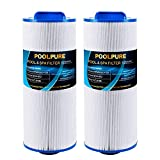 """POOLPURE Replacement Spa Filter for PPM50SC-F2M, Unicel 5CH-502, Marquis Spa 20041, 20091, 370-0237, Filbur FC-0195, Marquis 50, 2"""" Male Thread/MPT Hot Tub Filter, 2 Pack"""