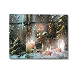NIKKY HOME LED Weihnachten Leinwand Gemälde Dekorative LED-Leuchten Bild drucken Fensterbrett Weihnachtsbaum