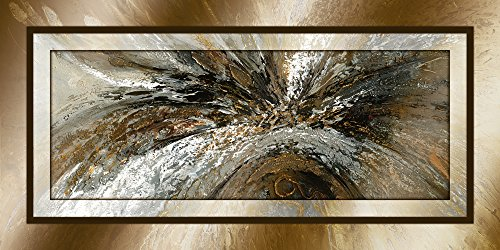 Artland Qualitätsbilder I Alu Dibond Bilder Alu Art 100 x 50 cm Abstrakte Motive Formen Digitale Kunst Braun A9GZ Gold Abstrakt