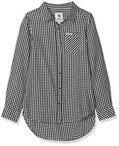 Garcia Kids Mädchen H92631 Bluse, Mehrfarbig (Off Black 1755), 164 (Herstellergröße: 164/170)