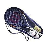 Wilson Conjunto de iniciación al tenis, Roland Garros Elite 25, Botella, 2 pelotas, Bolsa de transporte, De 9 a 10 años, WR039010F