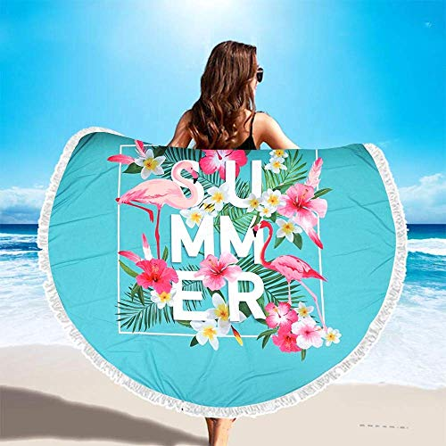 KALTYS Summer Serviette de Plage Ronde 150 cm 100% Polyester