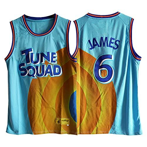 ZYJL James Space Jam - Camiseta de baloncesto para hombre, diseño de James Blue Fan Chalecos deportivos, diseño de tela transpirable y cómodo (S-XXL) XXL