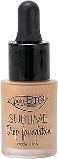 PuroBIO Certified Organic Second-Skin Sublime Drop Liquid Foundation with argan oil, antioxidants, vitamins. Medium-Full C...