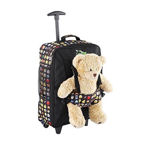 Cabin Max Bear Bag Trolley per bambini con ruote Porta Peluche 50x34x20cm Valigia Bagaglio a Mano, Zaino per Bambini - 33L - Leggero