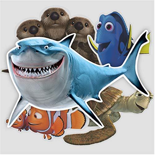 ZAQ alla Ricerca di Nemo Shark Valigia Valigia Sticker Viaggio Valigia Tag Wall Sticker Adesivo per Auto