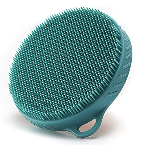 Pure Silicone Food-grade Body Brush Shower Cleansing Scrubber Gentle Exfoliating Glove Soft Bristles,Fit for All Kinds of Skin
