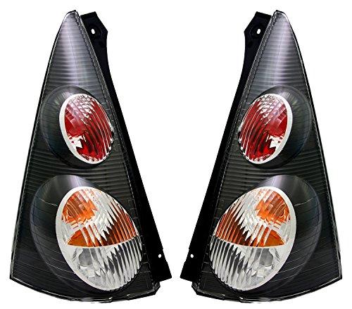 TYC Rückleuchten Set in Schwarz, Heckleuchten, Rücklichter, Links + rechts