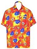 LA LEELA hawaiian giorno di SAN VALENTINO camicia spiaggia degli uomini presenta per il regalo marito per lui festa a tema carino cuore amore appuntamento romantico coppie aloha SAN VALENTINO arancion