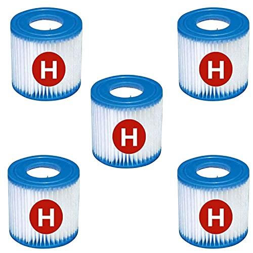 Cartucho de filtro tipo H, filtro de piscina para Intex H, filtro de repuesto para piscina tipo H para bombas de filtro 28601 y 28602 (6 unidades)