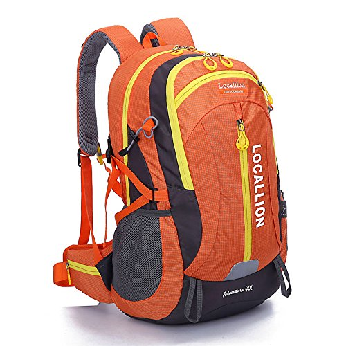 Alpinisme en plein air sac grande capacité sac à dos sac à dos hommes et femmes à pied imperméable à l'eau , orange