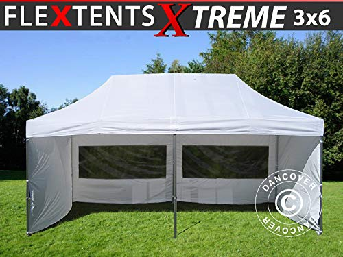 Dancover Vouwtent/Easy up tent FleXtents Xtreme 60 3x6m Wit, inkl. 6 Zijwanden