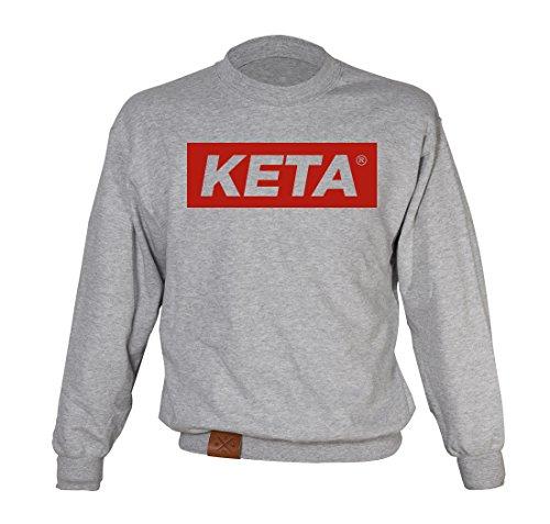 Manufaktur13 KETA - College Sweater, Pullover, Rough Grey Lederveredelung aus Volante Rind, Hood, Pulli (M13) (M)