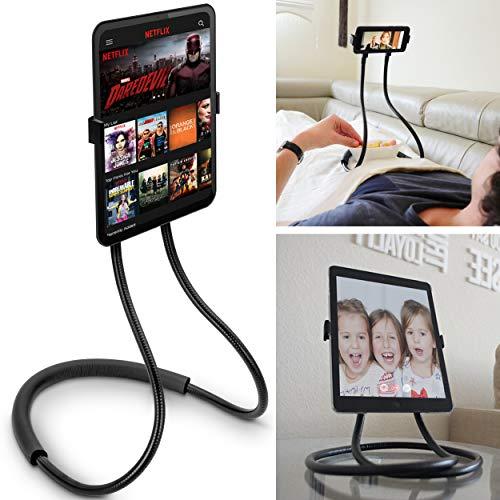 Flex'n'Chill Pro - Soporte Flexible para teléfono móvil y Tableta, Cuello de Cisne, Compatible con iPhone, Samsung o tabletas como iPad