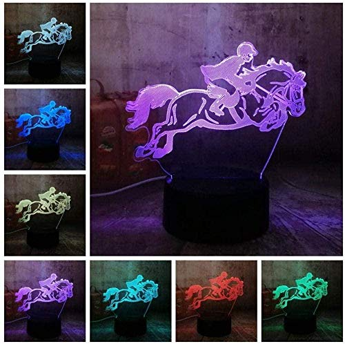 BTEVX 7 Farben Bluetooth Mood Night Light 3D Illusionslampe Feuerzeug model7 Farbwechsel Touch Table Schreibtisch LampBoys & Girls Best Toys Geschenke für