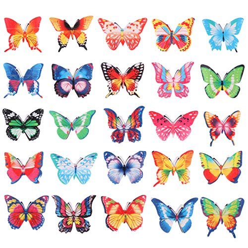 BESTONZON Set di 100 cialde di carta commestibile farfalla CakeCupcake Toppers colori assortiti decorazione cibo