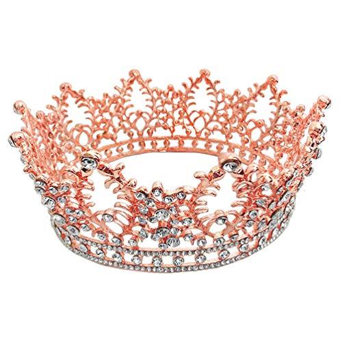 Beaupretty Diadema de Tiara Coronas de Novia Tiaras Diamantes de Imitación Tiara Nupcial Tocados de Cristal para Mujeres Accesorios de Foto de Boda