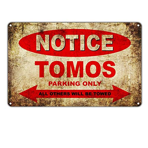 Notce Tomos Motorcycles Parking Only Maseratl metalen teken poster wandbord metalen borden vintage waarschuwingsbord retro schilden blikken decoratieve bar Pub Cafe