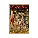 Barnum und Bailey Retro Zirkus-Leinwand-Poster, Wandkunst,