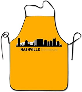 ghnfgxchxfg Nashville Tennessee City Silhouette Waterproof Chef Aprons