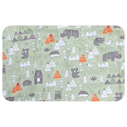 Yinuoday Pet Bed Self Cooling Mat Small Gel Pad Cushion No Water or Electricity Needed for Dogs Cats Keep Your Pet Cool In Summer 45x60cm (Green)