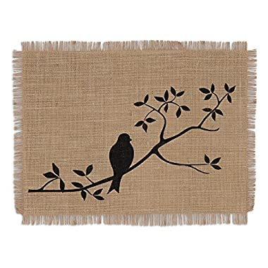 DII Burlap Placemat, Set of 6 Perfect for Spring, Summer, Dinner Parties, Bbqs, Weddings and Everyday Use, 13 x 19, for the Birds