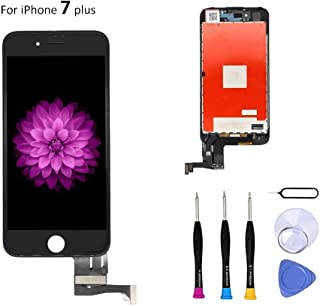 Screen Replacement Compatible with iPhone 7 Plus 5.5 Inch - Compatible with iPhone 7 Plus 3D Touch Screen Display Repair Kit Assembly with Complete Repair Tools(Black)