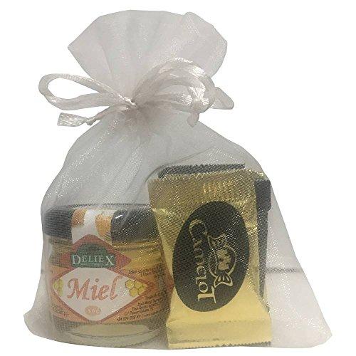 Lote de tarrito de miel Milflores acompañado de un surtido variado de napolitanas de chocolate (Pack 24 ud): Amazon.es: Hogar
