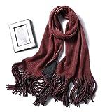 UXZDX 2020 Nuevas Bufandas de Cachemira de Invierno para Mujer Moda de Punto Grueso cálido chales y Abrigos señora Pashmina pañuelo de tamaño Largo Fular (Color : H)