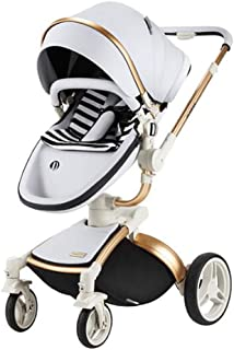 Baby Stroller Folding high Landscape Maternal and Child Supplies Shock Absorber Four Wheel Baby Stroller,Silver