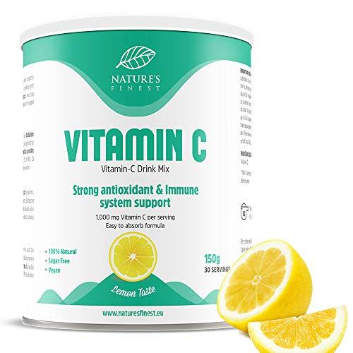 Nature's Finest Bevanda a base di Vitamina C | 1000mg di Vitamina C per porzione | Integratore Vegano 100% Naturale ad Alta Biodisponibilità I Forte Potere Antiossidante