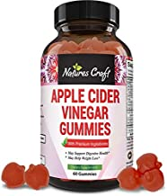 Natural Apple Cider Vinegar Gummies - for Weight Loss - Lose Weight - ACV Gummy Belly Fat Burner Appetite Suppressant with Pure Ginger Extract Chewable Diet Supplement for Women Men Detox Cleanse