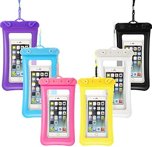 6 Piece Floatable Waterproof Phone Pouch Floating Waterproof Cell Phone Case Universal Cellphone product image